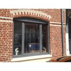 Toutes les fenêtres en PVC gris anthracite 7016